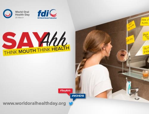 "FDI lança tema ""Diga Ahh!"" para  Campanha de Saúde Bucal 2018"