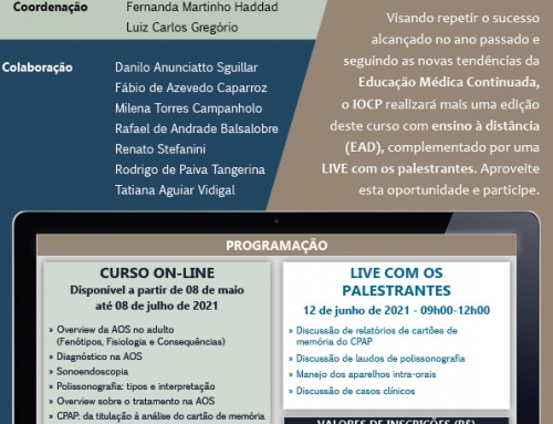 VII CURSO DA APNEIA OBSTRUTIVA DO SONO: DO DIAGNÓSTICO AO TRATAMENTO